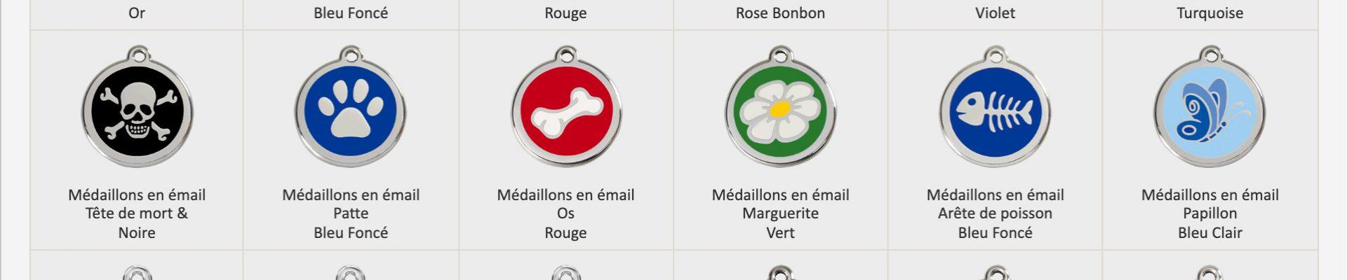 médailles pour chien red dingo